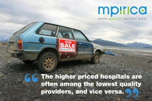 Inconsistent healthcare costs - are you paying for a Lexus but getting a Pinto?