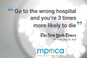 Go to the wrong hospital and you're 3 times more likely to die