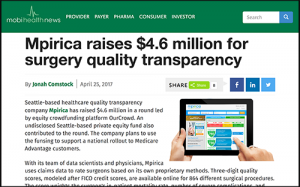 MPIRICA raises $4.6 million for surgery quality transparency - mobihealthnews.com